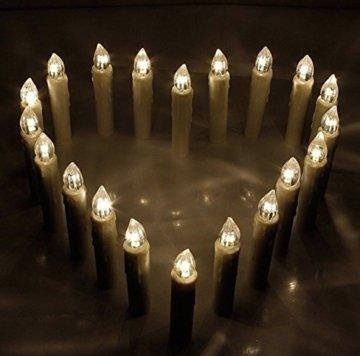 40er Christbaumkerzen Kabellos Warmweiß Flammenlos Weihnachtsbaum Lichterkette mit Fernbedienung - 7