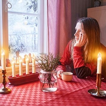 40x Weinachten LED Kerzen Kabellos Weihnachtskerzen Christbaumkerzen Dimmen Flackern Baumkerze-Set,Kerzen Lichtfarbe warmweiß - 4