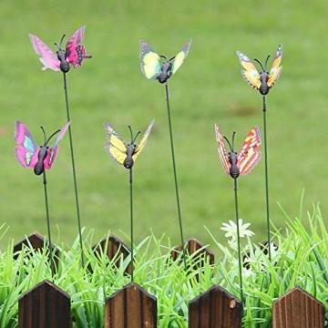 50 stücke Künstliche Dekorative Schmetterling Rasen Garten Decor Landschaft Indoor Outdoor Ornamente Patio Ornamente Hof Pflanzer Blumengarten Christbaumschmuck - 5