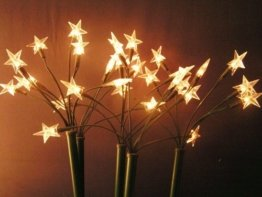 5x LED Leuchtstäbe 30 LED´s Warmweiß 44cm Sterne Sternenstäbe - 1