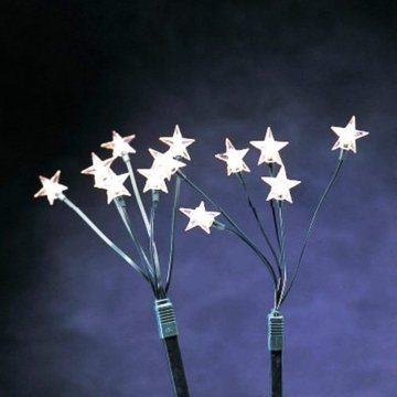 5x LED Leuchtstäbe 30 LED´s Warmweiß 44cm Sterne Sternenstäbe - 3