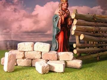 60 rechteckige Bausteine für den Krippenbau - 1