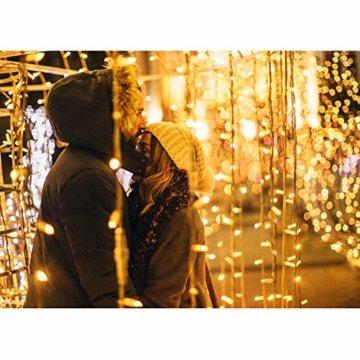 600 LEDs Lichterkette 6m * 3m IDESION 8 Betriebsarten LED Lichtervorhang für Innenausstattung Außenbereich Schlafzimmer Hochzeit Weihnachten Party (Warmweiß) - 6