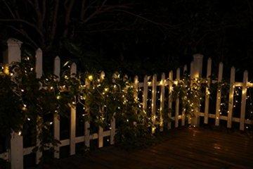 600er LED 15m Eisregen Lichterkette Lichtervorhang Eiszapfen Außen Innen Deko für Garten Party Hochzeit Strombetrieben mit Stecker Gresonic [Energieklasse A+] (Warmweiß, Dauerlicht) - 4