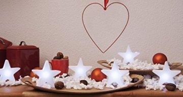 8 seasons design - Kleiner LED Stern Shining Star Micro S (12 cm, batteriebetrieben, kabellos, Tischdekoration, Weihnachtsdeko, leuchtendes Sternchen) weiß - 3