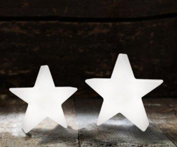 8 seasons design - Kleiner LED Stern Shining Star Micro S (12 cm, batteriebetrieben, kabellos, Tischdekoration, Weihnachtsdeko, leuchtendes Sternchen) weiß - 5