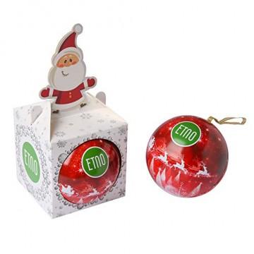 ACORUS Christbaumkugel Spielzeug mit Tee - Geschenke zu Weihnachten - 6