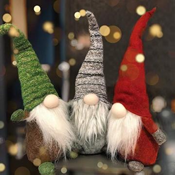 Airlab Ostern Weihnachten Deko Wichtel 49 cm Hoch, Schwedischen Weihnachtsmann Santa Tomte Gnom, Festliche Verpackung, Skandinavischer Zwerg Geschenke für Kinder Familie Ostern Weihnachten, Grau - 7
