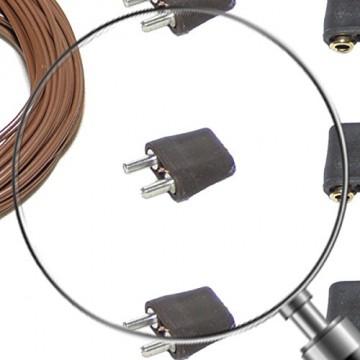 Alfred Kolbe Krippen AM 11 Weihnachtskrippen-Zubehör-Set 5m Kabel, 3 Stecker und 3 Steckverbindungen für 3,5-12 V Beleuchtung - 3