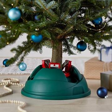 AmazonBasics Weihnachtsbaum-Ständer, Christbaumständer mit 4,8-l-Wasserbehälter, für echte Bäume bis zu einer Höhe von 2,8 m - 5