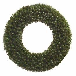 Ambiente-Lichtkultur IKu ® Tannenkranz 75 cm Durchmesser beiseitig Kunsttanne Weihnachtskranz 396 Tipps (Zweige) Dichtes Material - 1