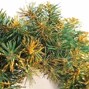 Amosfun weihnachtskranz mit led lichter kranz vorbeleuchtete weihnachtsdekorationen weihnachtskranz indoor outdoor dekorationen 40cm (ohne akku) - 3
