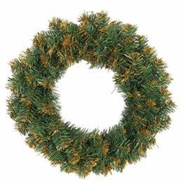 Amosfun weihnachtskranz mit led lichter kranz vorbeleuchtete weihnachtsdekorationen weihnachtskranz indoor outdoor dekorationen 40cm (ohne akku) - 1