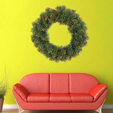 Amosfun weihnachtskranz mit led lichter kranz vorbeleuchtete weihnachtsdekorationen weihnachtskranz indoor outdoor dekorationen 40cm (ohne akku) - 4