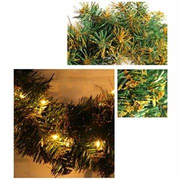 Amosfun weihnachtskranz mit led lichter kranz vorbeleuchtete weihnachtsdekorationen weihnachtskranz indoor outdoor dekorationen 40cm (ohne akku) - 8