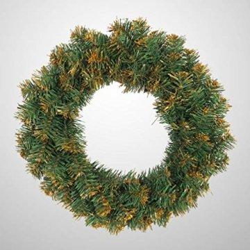 Amosfun weihnachtskranz mit led lichter kranz vorbeleuchtete weihnachtsdekorationen weihnachtskranz indoor outdoor dekorationen 40cm (ohne akku) - 9
