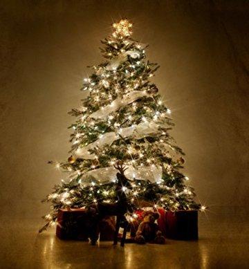 ANKOUJA Lichterkette LED Innen Außen Warmweiß 100er Verbindlich & Memroyfunktion für Weihnachten Zimmer Bett Hochzeit Party Schlafzimmer Weihnachtsbaum 31V-8 Funktion Partylicherkette - 2