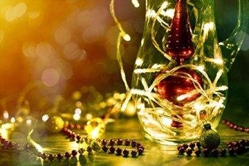 ANKOUJA Lichterkette LED Innen Außen Warmweiß 100er Verbindlich & Memroyfunktion für Weihnachten Zimmer Bett Hochzeit Party Schlafzimmer Weihnachtsbaum 31V-8 Funktion Partylicherkette - 5