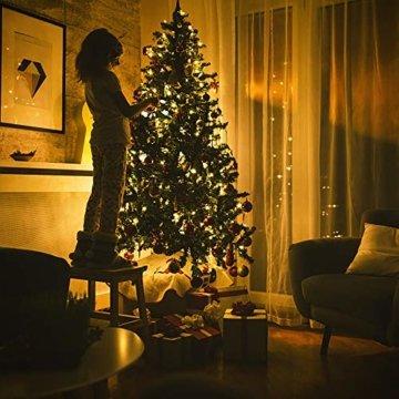 ANKOUJA Lichterkette LED Innen Außen Warmweiß 100er Verbindlich & Memroyfunktion für Weihnachten Zimmer Bett Hochzeit Party Schlafzimmer Weihnachtsbaum 31V-8 Funktion Partylicherkette - 7