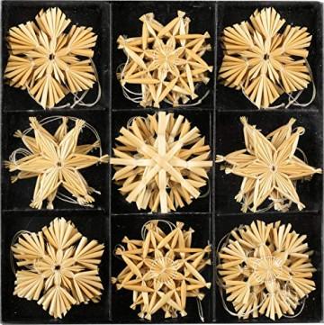 Annastore Strohsterne zum Hängen Mehrere Größen - Strohsterne Baumschmuck Christbaumschmuck (27 Strohsterne 6 cm) - 1