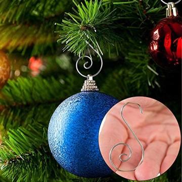 APERIL Weihnachtsverzierungs-Haken, Edelstahlhaken für Weihnachtsschmuck & Christbaumschmuck (160 Pcs, 2 Inch, 4 Farben) - 4