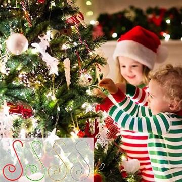 APERIL Weihnachtsverzierungs-Haken, Edelstahlhaken für Weihnachtsschmuck & Christbaumschmuck (160 Pcs, 2 Inch, 4 Farben) - 5