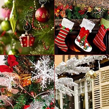 APERIL Weihnachtsverzierungs-Haken, Edelstahlhaken für Weihnachtsschmuck & Christbaumschmuck (160 Pcs, 2 Inch, 4 Farben) - 7