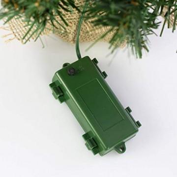 artplants.de Künstlicher Mini Weihnachtsbaum BUKAREST, LED's, geschmückt, 75 Zweige, 45cm, Ø 25cm - Kunst Tannenbaum - Deko Christbaum - 3