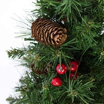 artplants.de Künstlicher Mini Weihnachtsbaum BUKAREST, LED's, geschmückt, 75 Zweige, 45cm, Ø 25cm - Kunst Tannenbaum - Deko Christbaum - 4