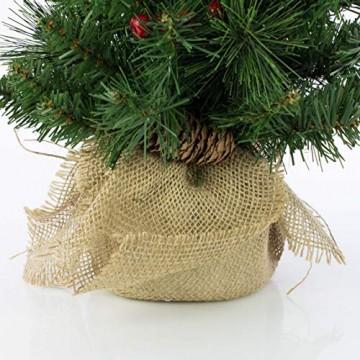 artplants.de Künstlicher Mini Weihnachtsbaum BUKAREST, LED's, geschmückt, 75 Zweige, 45cm, Ø 25cm - Kunst Tannenbaum - Deko Christbaum - 5