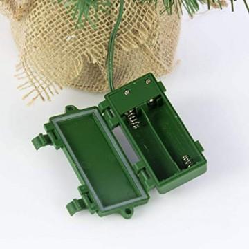 artplants.de Künstlicher Mini Weihnachtsbaum BUKAREST, LED's, geschmückt, 75 Zweige, 45cm, Ø 25cm - Kunst Tannenbaum - Deko Christbaum - 7