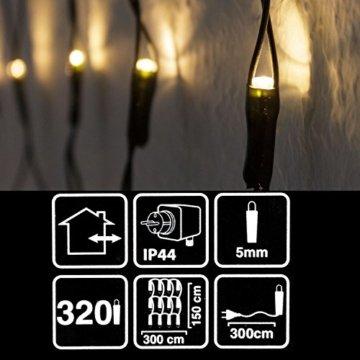 Atlantis Elektronik 320er LED Lichternetz 3x1.5m Warmweiß, Indoor & Outdoor, Lichterkette, Christbaumlichterkette, Weihnachtsbeleuchtung - 4