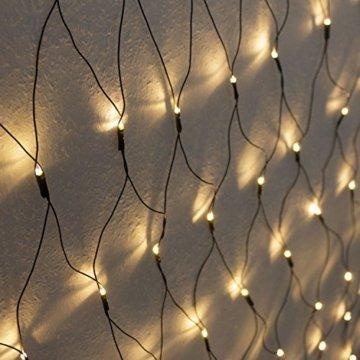 Atlantis Elektronik 320er LED Lichternetz 3x1.5m Warmweiß, Indoor & Outdoor, Lichterkette, Christbaumlichterkette, Weihnachtsbeleuchtung - 1