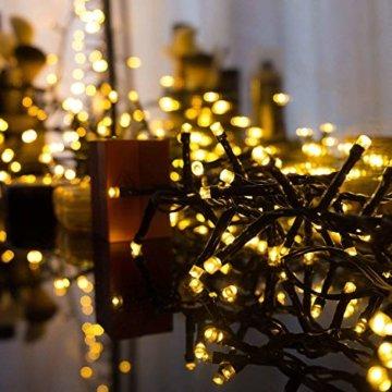 AUFUN LED Lichterkette Außen Außenlichterkette Weihnachtsbeleuchtung Wasserdicht IP44 mit 8 Leuchtmodi für Hochzeit, Party, Garten, Ostern (100m,1000LEDs,WarmWeiß) - 2