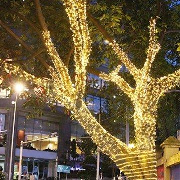 AUFUN LED Lichterkette Außen Außenlichterkette Weihnachtsbeleuchtung Wasserdicht IP44 mit 8 Leuchtmodi für Hochzeit, Party, Garten, Ostern (100m,1000LEDs,WarmWeiß) - 9