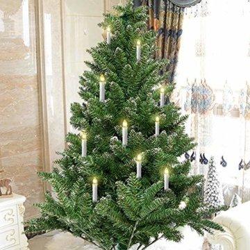 Aufun LED Weihnachtskerzen 30 Stück LED Kerzen Weihnachtskerzen mit Fernbedienung Warmweiß LED Kerzen Outdoor Weinachten LED für Weihnachtsbaum, Weihnachtsdeko, Hochzeitsdeko, Party, Feiertag - 2