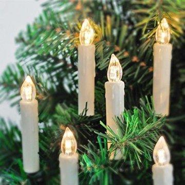 Aufun LED Weihnachtskerzen 30 Stück LED Kerzen Weihnachtskerzen mit Fernbedienung Warmweiß LED Kerzen Outdoor Weinachten LED für Weihnachtsbaum, Weihnachtsdeko, Hochzeitsdeko, Party, Feiertag - 3