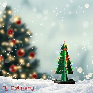 AZDelivery DIY LED Weihnachtsbaum Kit zum selber löten inklusive E-Book! - 1