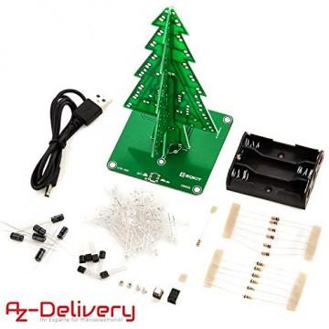 AZDelivery DIY LED Weihnachtsbaum Kit zum selber löten inklusive E-Book! - 2