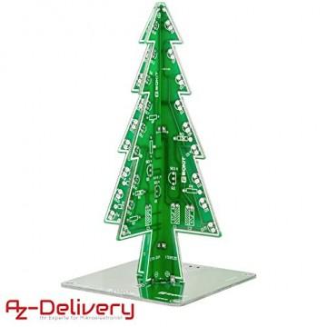 AZDelivery DIY LED Weihnachtsbaum Kit zum selber löten inklusive E-Book! - 4