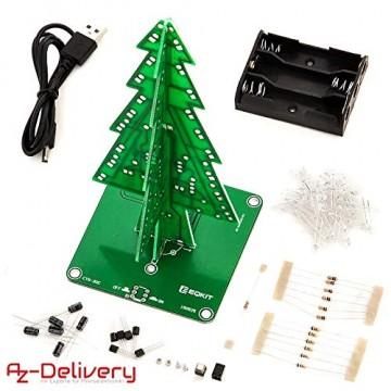AZDelivery DIY LED Weihnachtsbaum Kit zum selber löten inklusive E-Book! - 7
