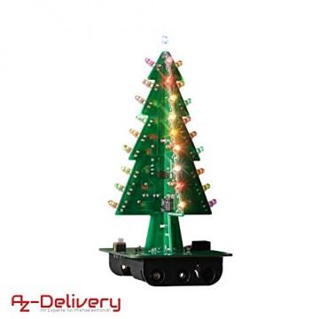 AZDelivery DIY LED Weihnachtsbaum Kit zum selber löten inklusive E-Book! - 8