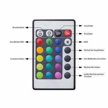 B.K.Licht LED Stripes, 5m Stripe, Lichterkette, Band, Streifen, LED Leiste, LED Lichtleiste, LED Bänder, Lichterkette LED, weiß, bunt, inkl. Fernbedienung, inkl. Farbwechsel, selbstklebend - 3