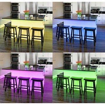 B.K.Licht LED Stripes, 5m Stripe, Lichterkette, Band, Streifen, LED Leiste, LED Lichtleiste, LED Bänder, Lichterkette LED, weiß, bunt, inkl. Fernbedienung, inkl. Farbwechsel, selbstklebend - 4