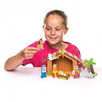 Baker Ross Weihnachtskrippe aus Moosgummi Kit - Kreative Weihnachtskunst und Bastelbedarf für Kinder zum Basteln und Dekorieren (2er-Pack) - 4