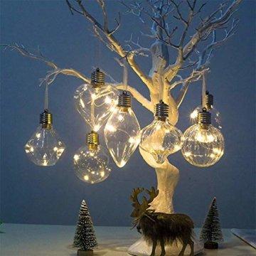 BeesClover Weihnachtsbaumbeleuchtung, PET, speziell geformte Lampe, Weihnachtsbaumbeleuchtung, Dekoration Section C-Watermelon Ball - 3