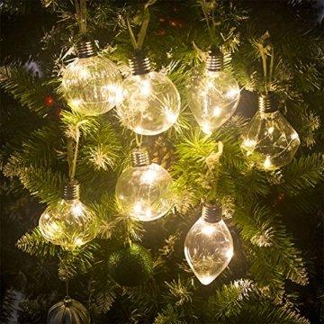 BeesClover Weihnachtsbaumbeleuchtung, PET, speziell geformte Lampe, Weihnachtsbaumbeleuchtung, Dekoration Section C-Watermelon Ball - 4