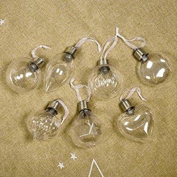 BeesClover Weihnachtsbaumbeleuchtung, PET, speziell geformte Lampe, Weihnachtsbaumbeleuchtung, Dekoration Section C-Watermelon Ball - 5