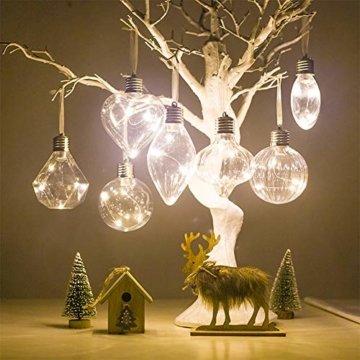 BeesClover Weihnachtsbaumbeleuchtung, PET, speziell geformte Lampe, Weihnachtsbaumbeleuchtung, Dekoration Section C-Watermelon Ball - 6