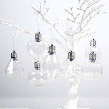 BeesClover Weihnachtsbaumbeleuchtung, PET, speziell geformte Lampe, Weihnachtsbaumbeleuchtung, Dekoration Section C-Watermelon Ball - 8